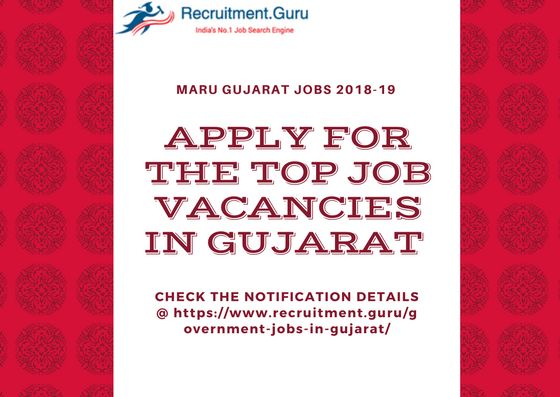 Various Job Vacancies in Maru Gujarat. Check the complete Gujarat Government Jobs related details. And apply for Gujarat Government Jobs
