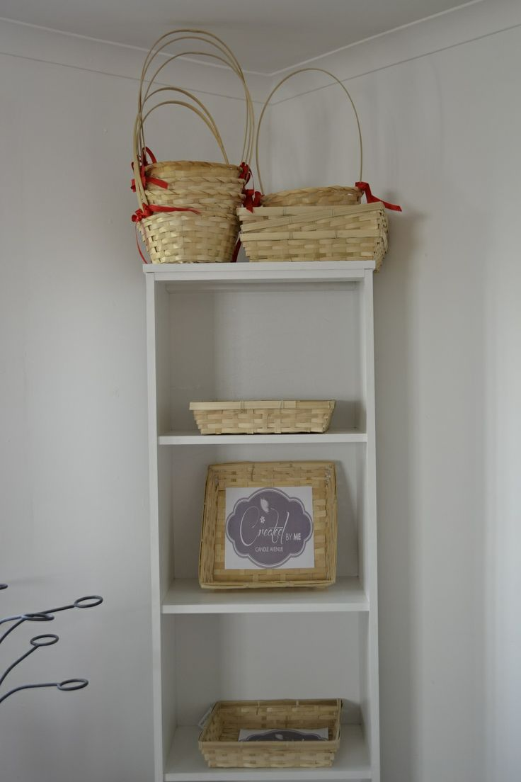 Our little baskets waiting to be filled with candles made by you!