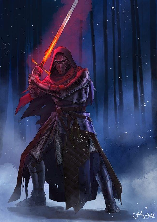 Olde Republic Kylo Ren An Art Print By Jake Bartok Star Wars Art Star Wars Pictures Star Wars Concept Art