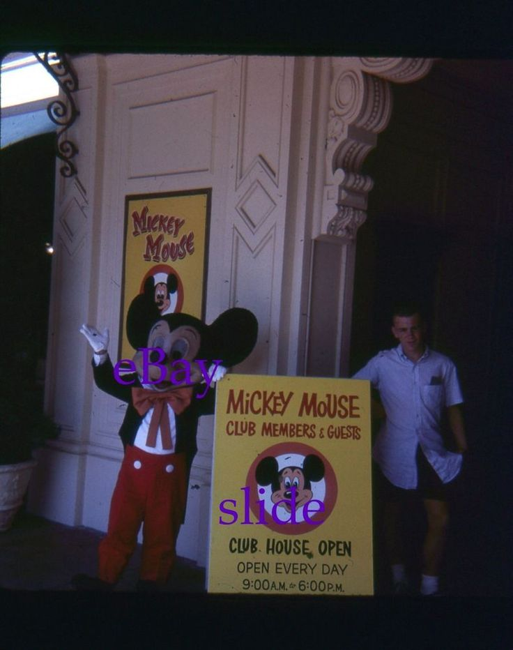 35mm Slide Disneyland Mickey Mouse Club Entrance Kodachrome 1963