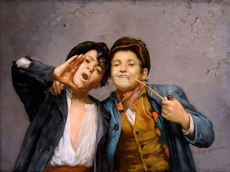 Vincenzo Busciolano (B. 1851) - Due Ragazzi