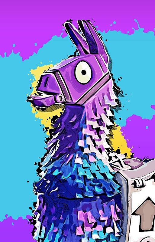 Llama Fortnite Fortnite Wallpaper Drawings Art