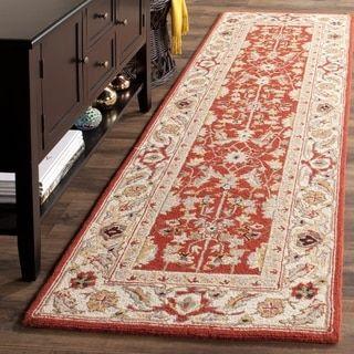 Safavieh Hand Hooked Chelsea Red/ Ivory Wool Rug (2u00276 X 8u0027) By Safavieh