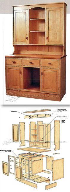 Kitchen Dresser Plans - Furniture Plans and Projects | http://WoodArchivist.com