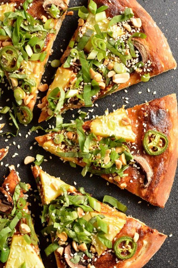 Thai Pineapple Pizza -use gluten free crust vegan