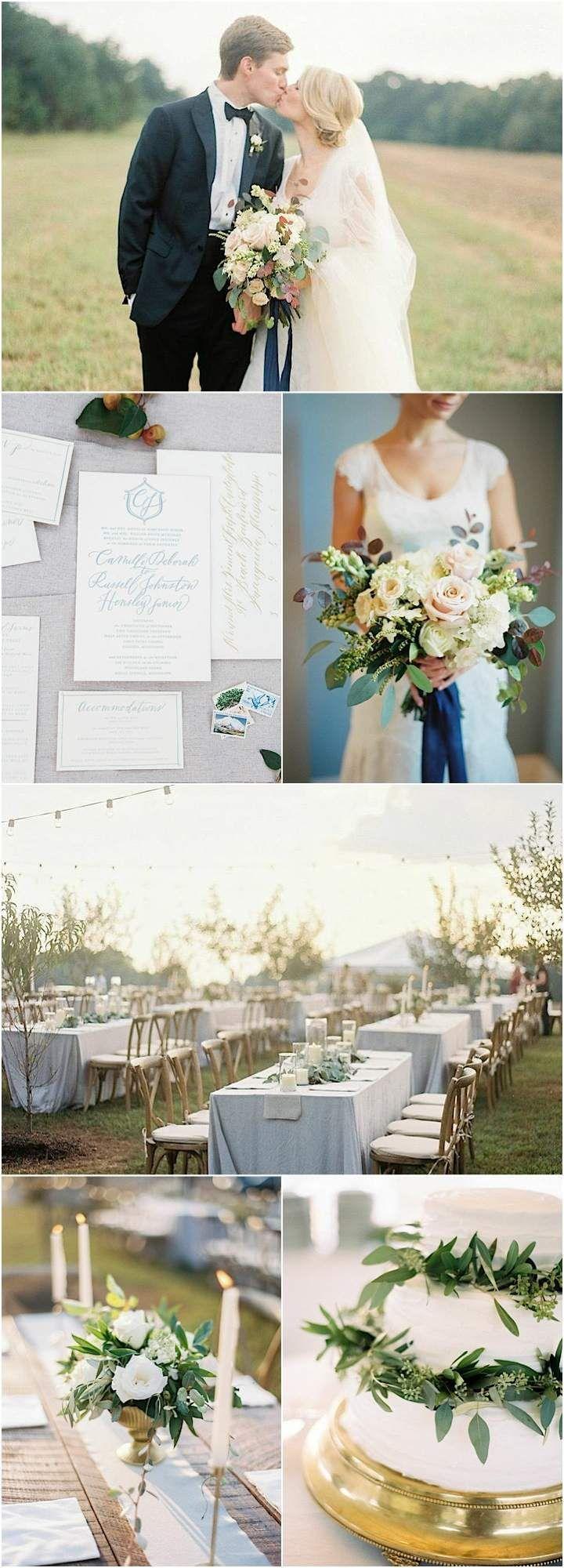 Dorable Dusty Blue Wedding Theme Vignette - The Wedding Ideas ...