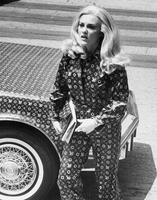 """MADELINE KAHN In LOUIS VUITTON Jumpsuit & Matching Cadillac Seville from MEL BROOKS """"HIGH ANXIETY"""" 1977 (20TH CENTURY FOX)"""
