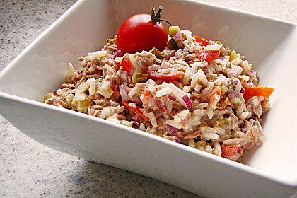 Thunfisch - Reis - Salat, ein raffiniertes Rezept aus der Kategorie Gemüse. Bewertungen: 68. Durchschnitt: Ø 4,4.