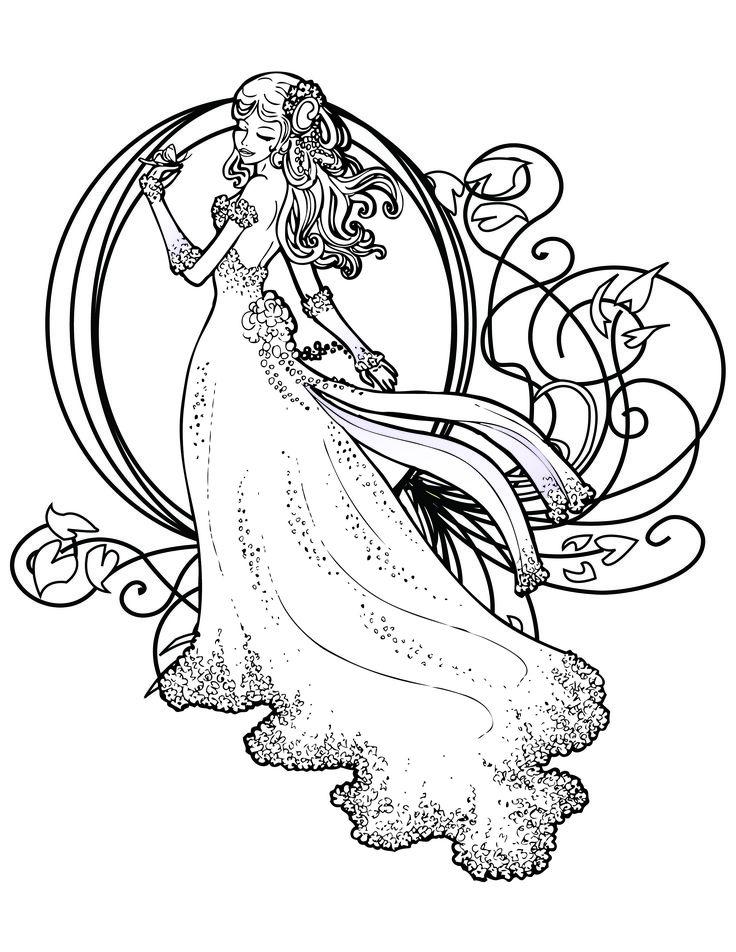 coloriage de princesse disney gratuit imprimer