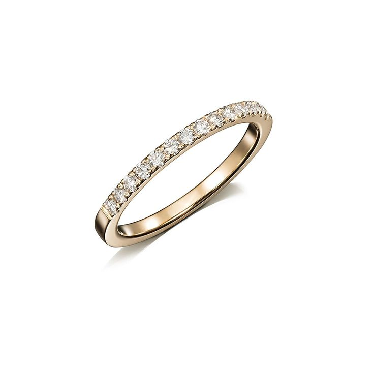 Narrow Crown wedding ring with diamonds in yellow gold