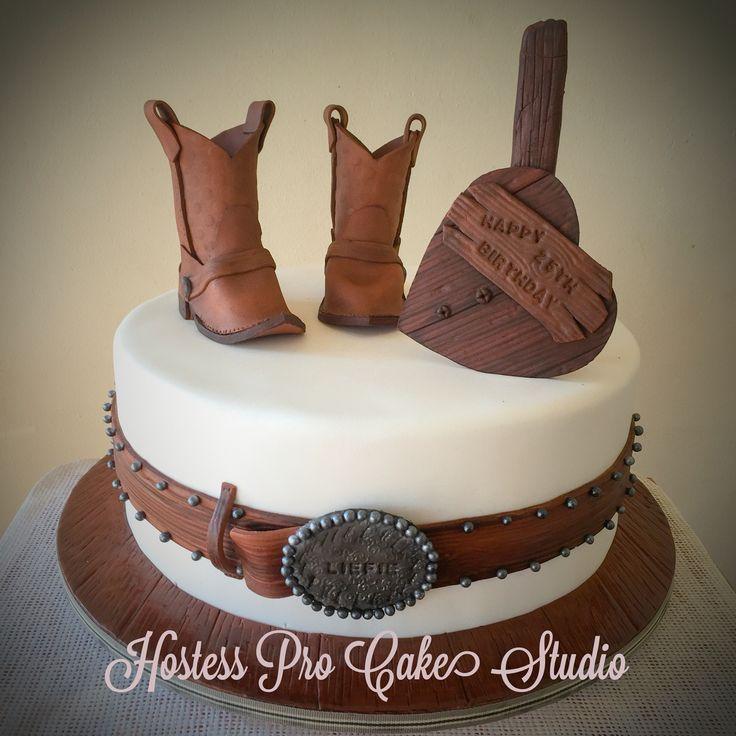 @hostessprosugarcraft Cowboy boots cake #cakedecorating