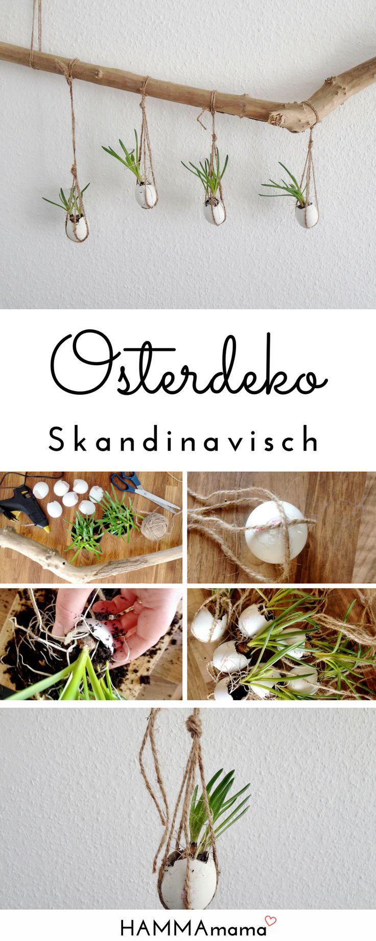 DIY-Deko-Ast für Ostern selber machen: skandinavisch minimalistisch mit Blumen