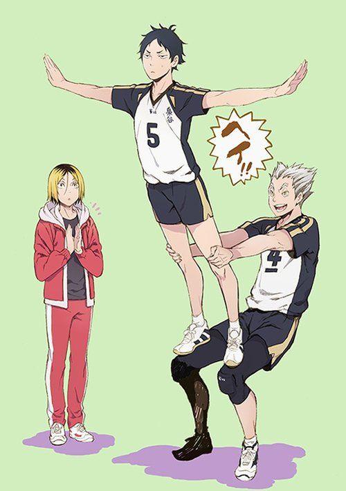 Haikyuu - Fly, little owl,fly haha- Bokuto, Akaashi and Kenma