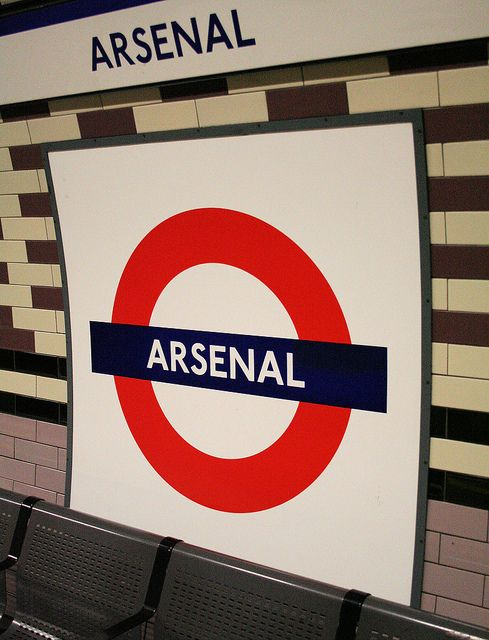 Arsenal tube station.
