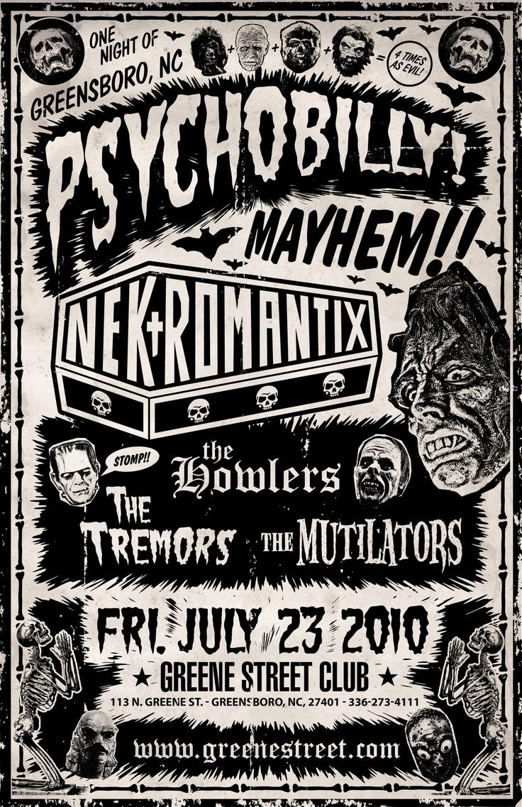 Nekromantix, Tremors, Howlers, Mutilators Poster