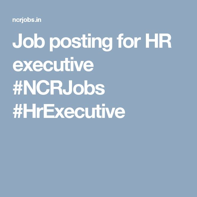 Job posting for HR executive #NCRJobs #HrExecutive