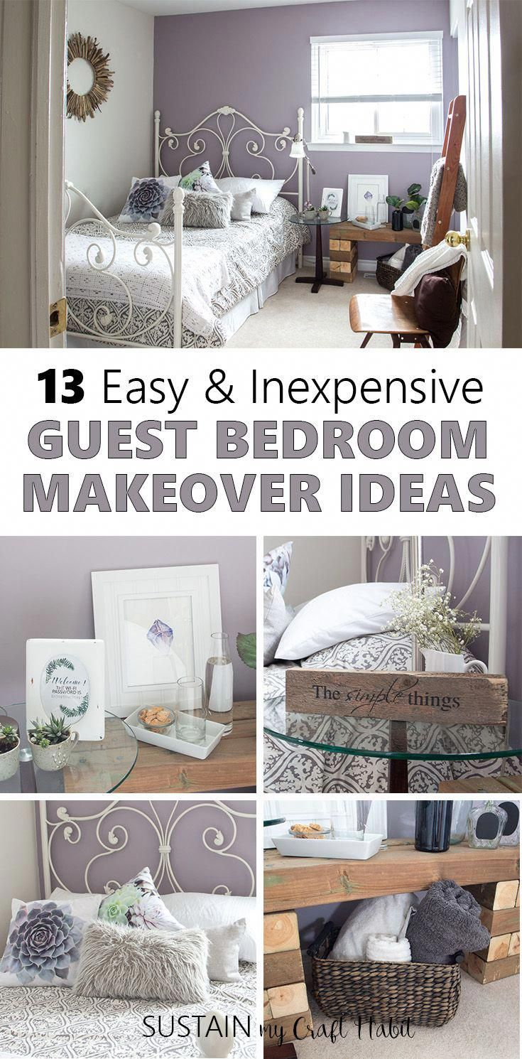 These 13 Diy Guest Room Decor Ideas On A Budget Are A Great Way To Transform A Spare Room To A Rustic Fren Guest Bedroom Decor Guest Bedroom Design Bedroom Diy