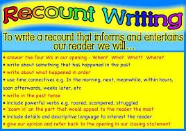 recount writing - Google Search