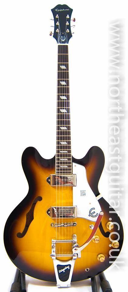 Epiphone Casino Semi Acoustic Guitar Bigsby -Vintage Sunburst #epiphone #guitar