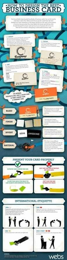 cmo disear y presentar las mejoras tarjetas de visita (via @Geeks room - hector russo)