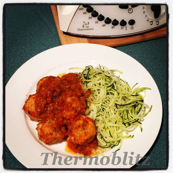 Chicken with Quinoa and Feta Meatballs with Tomato Hidden Veg Pasta Sauce and Zoodles