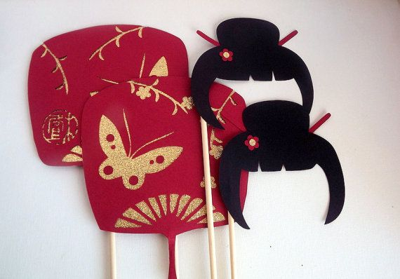 Geisha y abanicos - Fiesta Japonesa