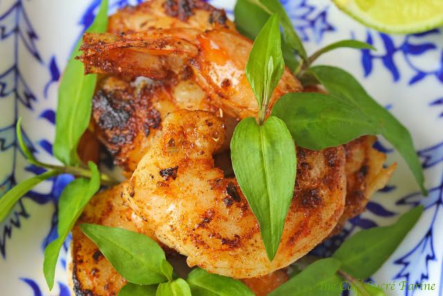 Pan-Seared & Blackened Shrimp w/ Marmalade Dipping Sauce ~ be ready to lick your plate clean after enjoying these seafood wonders! Serve as an appie or over steamed rice with a side of asparagus makes a phenomenal quick weeknight dinner.