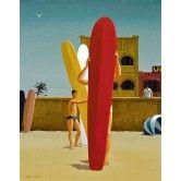 Surfer's Bondi, 1963, by Jeffrey Smart