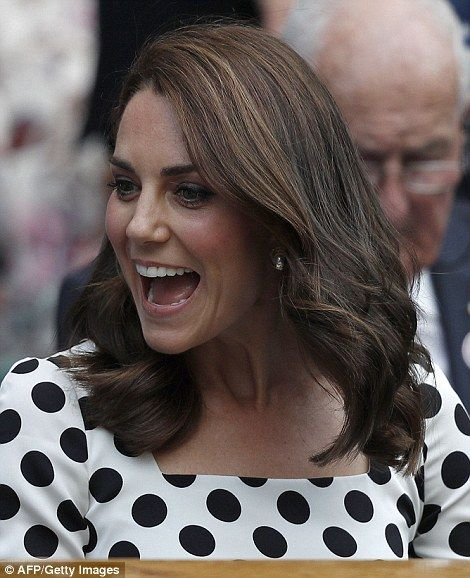 Short change! The Duchess is famed for her flowing brunette locks, but has switched things...