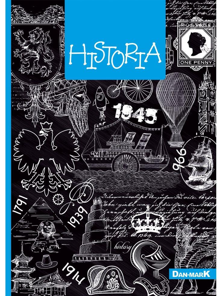 Zeszyt w kratkę, HISTORIA format A5, 80 kartek - 1106006KLFOA5 - art. szkolne - txm