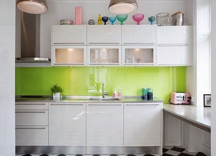lime green kitchen backsplash design ideas with kitchen cabinet design