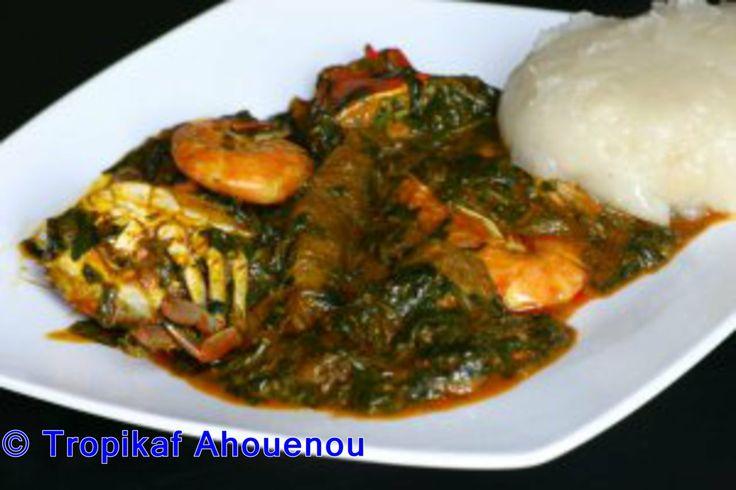 Togo sauce ademe akoume p te base de farine de ma s for Abidjan net cuisine africaine