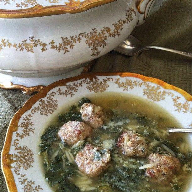 Italian wedding Soup #Easter #SundaySupper