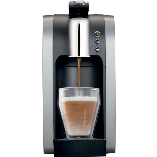 STARBUCKS Verismo™ 580 Brewer coffee machine (370 BRL) ❤ liked on Polyvore featuring home, kitchen & dining, small appliances, kitchen, single serve brewers, starbucks coffee pods, starbucks coffee machine, coffee machine and latte coffee machine