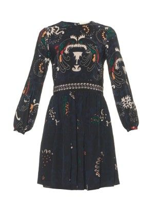 Drove long-sleeved printed silk dress   Vanessa Bruno   MATCHESFASHION.COM