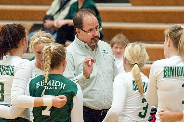 Getting some guidance from coach Chadwick its all about the team! For  more information on BSU volleyball visit http://www.bsubeavers.com/volleyball/