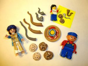 Playmobile, Duplo, and Lego for Rosh Hashanah