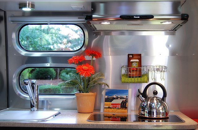 Airstream Bambi Kitchen by tnkbuzan, via Flickr