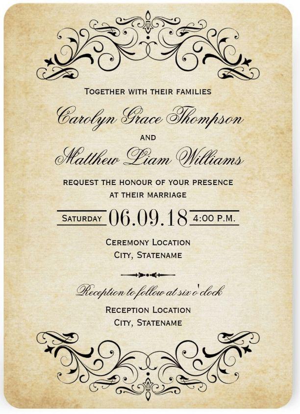 14 best Invitations images on Pinterest | Wedding invitation fonts ...