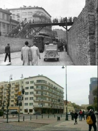 Then& Now Warsaw Ghetto, Warsaw, Poland