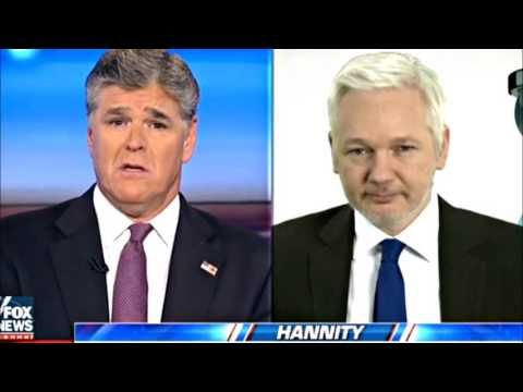 Julian Assange on The Sean Hannity Radio Show (12/15/2016) - YouTube
