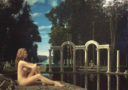 """""""Rustende dryade (Resting Dryad)"""", 1977 / Carel Willink (1900-1983) / Private Collection"""
