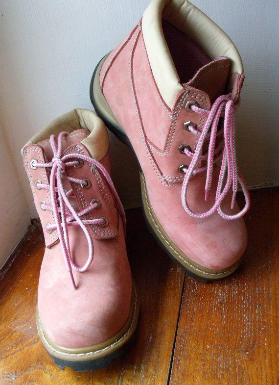 Ladies Adventuridge Pink Suede Walking Hiking Rockabilly