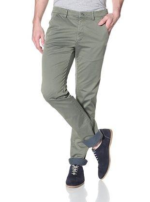 Mason's Men's Torino Yarn Dye Pant (Green)