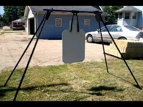 diy target stands   Target Stand and Steel Target (custom order AR500 human silhouette)