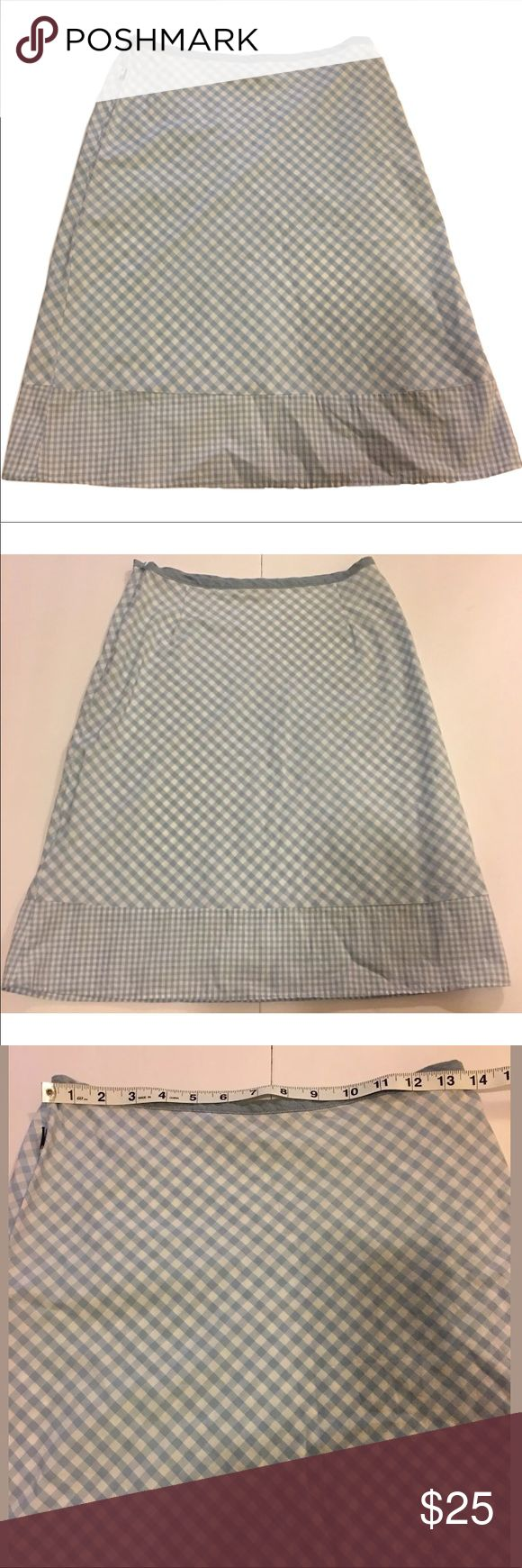 Tommy Hilfiger Gingham Cotton Mini Skirt Size 3 Tommy Hilfiger Tommy Jeans Skirt Juniors Size 3 Gingham 100% Cotton Blue White   ✅Small hole from sensor tag near zipper area - see last picture.   Please see pictures for measurements.            Ref:o#ooet5kyoq Tommy Hilfiger Skirts