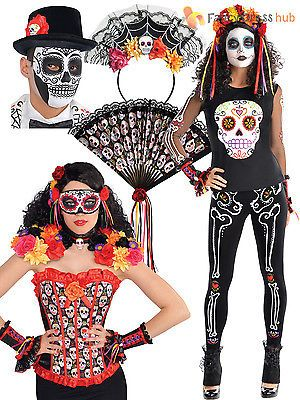 #Ladies mens day of the dead halloween #mexican fancy #dress costume accessory,  View more on the LINK: 	http://www.zeppy.io/product/gb/2/400984901970/