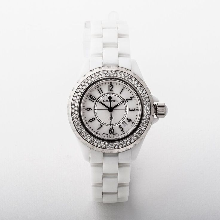 Ladies Chanel Chronograph Ceramic & Diamond Watch
