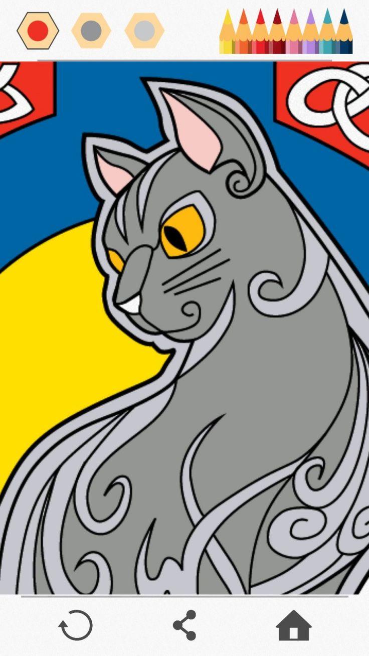 Mejores Más de 75 imágenes de Colorear - Gatos en Pinterest ...