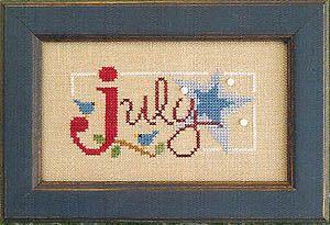 Lizzie Kate Flip-It Bits July - Cross Stitch Pattern